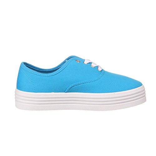Damen Schuhe, BW5602, HALBSCHUHE Blau