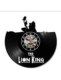 The Lion Theme CD Record Reloj de Pared Vinilo de Dibujos Animados Lindo Reloj de Pared Estilo Antiguo Hecho a Mano Decoración para el…