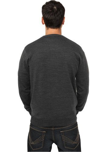 Knitted V-Neck Charcoal