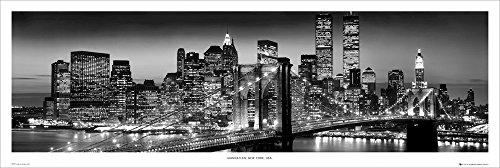 GB Eye LTD, New York, Manhattan Black - Berenholtz, Poster Porte, 53 x 158 cm