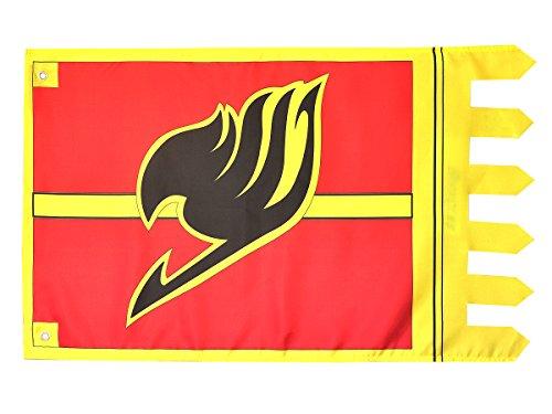 CoolChange Fairy Tail Flagge mit Magier Gilde Wappen ()