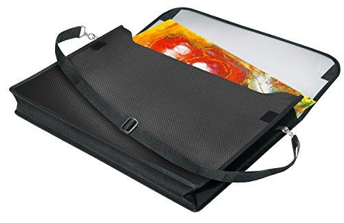 Veloflex 4431402 Zeichenmappe VELOBAG DIN A3, Zeichentasche, Sammelmappe, mit Trageriemen, blau und schwarz - Tasche Zeichenblock