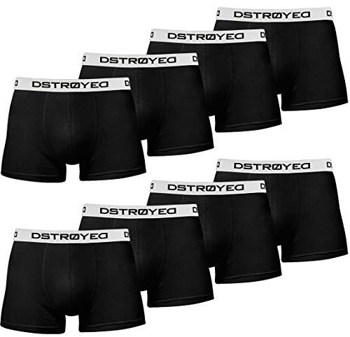 DSTROYED ® Boxershorts Men Herren 8er Pack Unterwäsche Unterhosen Männer Retroshorts 316 (M, 315b 8er Set Schwarz-Weiß) -