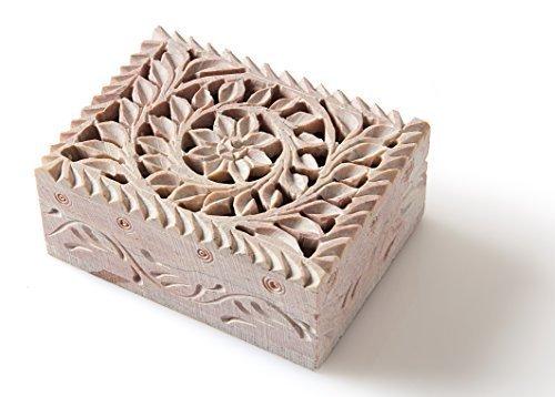 –starzebra handgefertigt niedlichen Jewelry Box für Mädchen mit feinen Details von jaali Lattice Arbeit aus Indien (Today Deals)