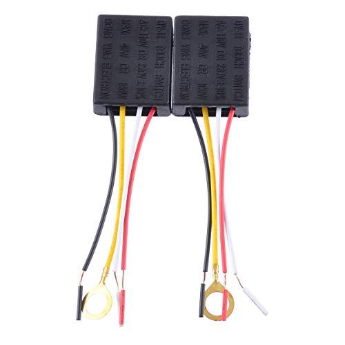 2 Stücke Ac 220V 3 Way Touch Control Sensor Sensorschalter berührenSchalter Dimmer Lampe Schreibtisch Licht Teile -