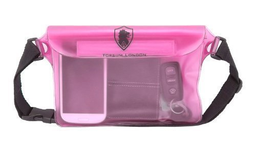 save off 0feab 27bd8 Topsum London Pink Sports Waterproof Beach Swimming Cycling Waist Bum Bag  For Cameras Mp3 Mp4 Ipod