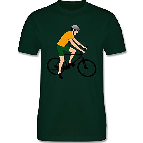 Radsport - Fahrradfahrer Citybike Radfahrer - Herren Premium T-Shirt Dunkelgrün