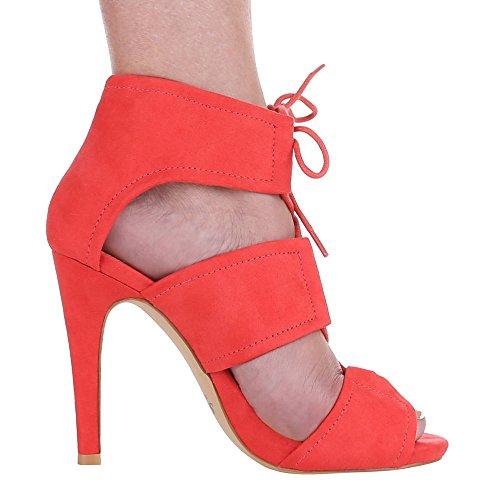 Ital-Design - Sandali  donna Rosso (Red - Coral)