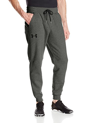 Under Armour Rival Cotton Jogger, Pantaloni Uomo Carbon Heather/Black