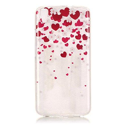 KSHOP Per Huawei Y6 Custodia Conchiglia fit ultra sottile Silicone Morbido Flessibile TPU Custodia Case Cover Protettivo Skin Caso modello - Cuore Rosso
