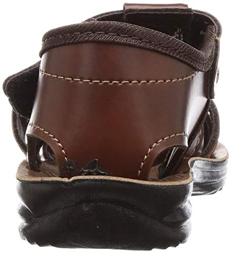 VKC Pride Boy's Brown Outdoor Sandals-8 UK (26 EU) (9.5 Kids US) (2000524408BRN)