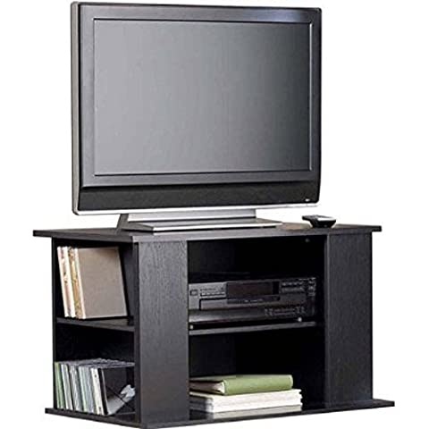 TV Stand Entertainment Center Media Storage Cabinet Bookcase for DVDs, CDs, Video Games, Books ~ Perfect for Kids Teen Room, Apartment, Small Space, Dorm by