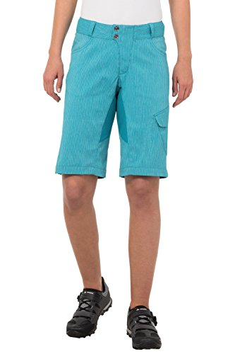VAUDE Damen Hose Women's Tremal Zip Off Shorts, Alpine Lake, 36, 05485 (Alpine Womens Pant)
