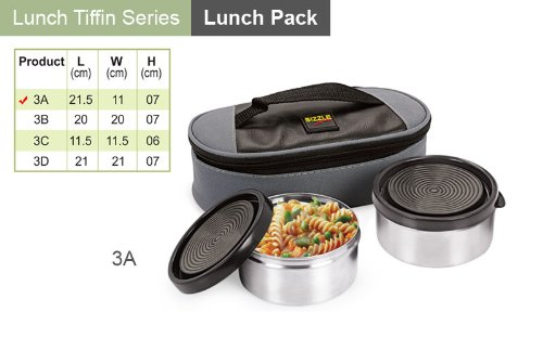 Buy Sizzle Executive Lunch Box Container Set of 2 3A on Amazon ... 49c3eac68ceb