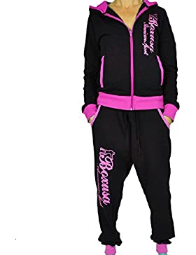 CBKTTRADE Boxusa Damen Jogginganzug Freizeitanzug Fitness Club Design oder Hoodie wählbar
