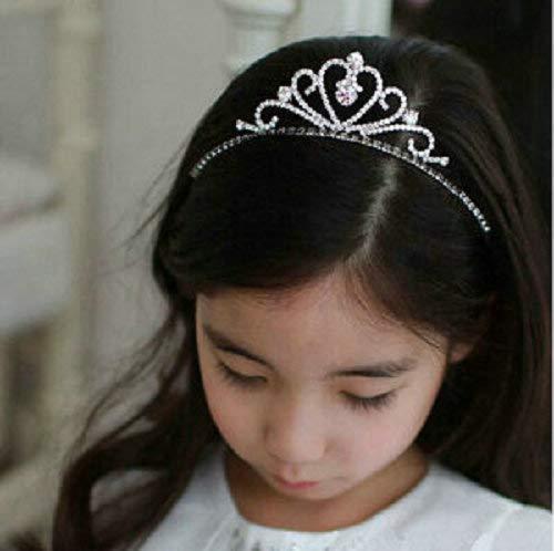z Prinzessin Crown Tiara Strass Corona Diadem Hairwear Haarschmuck Schöne Hochzeit Mädchen Brautjungfer Stirnband 6 ()