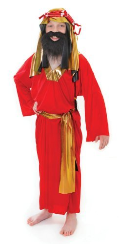 Wise Man - Red - Kinder (Kostüm Für Kinder Alter Mann)