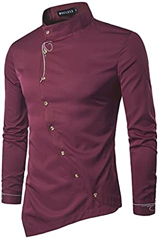 Whatlees Chemise ¨¤ manches longues ¨¤ manches longues ¨¤ manches longues ¨¤ manches longues B404-Red-M