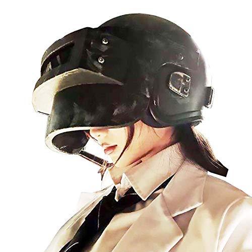 Kostüm Könige Drei Machen - YJZ PUBG Helm Level 3 Spielerunknows Schlachtfelder Cosplay Zubehör Gewinner Gewinner, Huhn Abendessen! Taktischer Überlebens-Helm Wie Im Spiel Gesehen,Retroblack