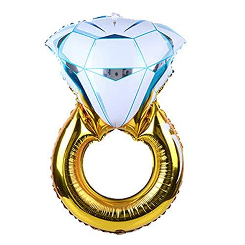 BOENZN Diamant - Ehering - Ballons und Verlobungsring - Ballons | Premium-Qualität | Extra langlebige Folie und Naht | Setup-Elemente enthalten | Bachelorette Partydekorationen