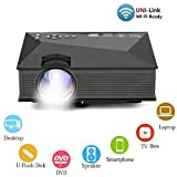 XC 1080P HD 3D Home Theater LED-Projektor, Handy Mit Bildschirm Android iPhone System WiFi-Verbindung 138 Zoll