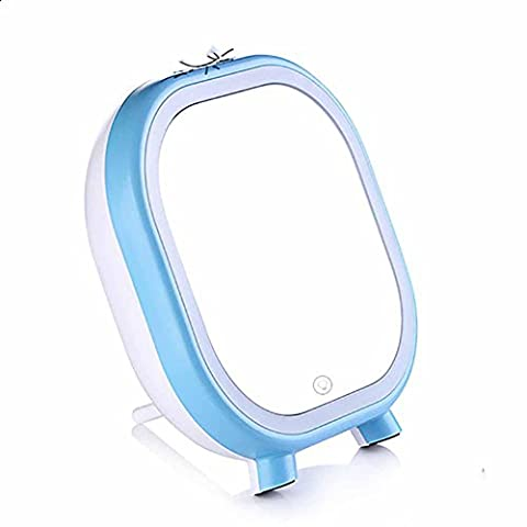 ZUIZU LED Makeup Mirror Lamp Audio Beauty Portable Mirror Bedroom Makeup Mirror Mmulti-Function Charge Convenient 165X175X53mm. , blue