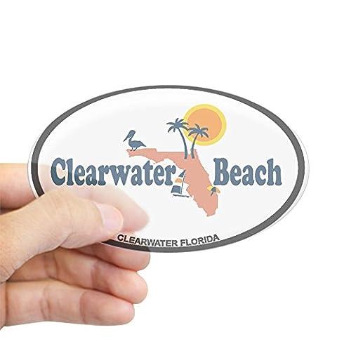 CafePress - Clearwater FL - Map Design. Sticker (Oval) -