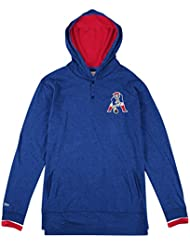 """New England Patriots Mitchell & Ness NFL """"Seal The Win"""" L/S Hooded Men's shirt Chemise"""