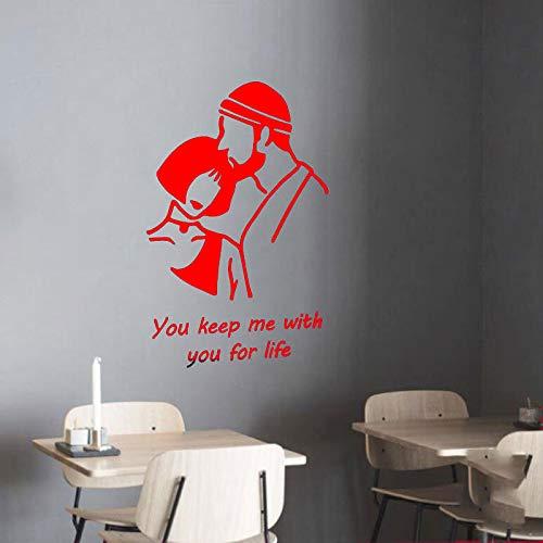 Preisvergleich Produktbild zqyjhkou Mörder Und Schönheit Süße Muster Abnehmbare Wandtattoo Für Wohnzimmer Home Art Decor Vinyl Wandtattoos Schlafzimmer Aufkleber 3 57X89 cm