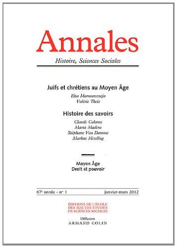 iences Sociales, N° 1, Janvier-mars 2 : Juifs et chrétiens au Moyen Age ; Histoire des savoirs ()