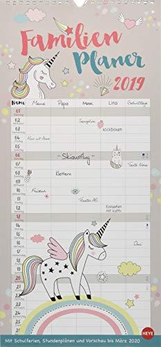Einhorn Familienplaner - Kalender 2019