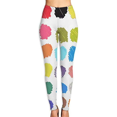 Women's High Waist Yoga Pants Colored Marker Spots Extra Soft Non See-Through Workout Leggings