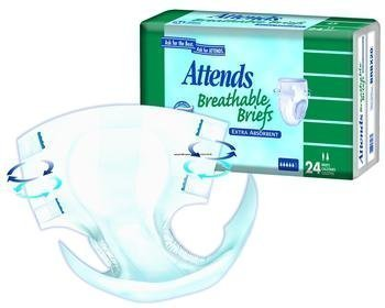 Attends Breathable Fitted Briefs, Small, Extra Absorbency, Bag/24 by ATTENDS HEALTHCARE PROD
