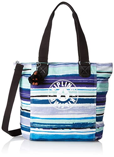 Kipling Damen Shopper C Tote, Mehrfarbig (Joyfull Stripes), 45x34x18 cm -
