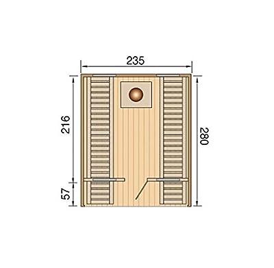Weka Saunafass Vaasa Deluxe, mit Leimholztür + 4 Fenstern, inkl. SO 9,0 kW, 198.0102.00.30, Natur Unbehandelt, 280x235x242 cm von weka Holzbau GmbH - Du und dein Garten