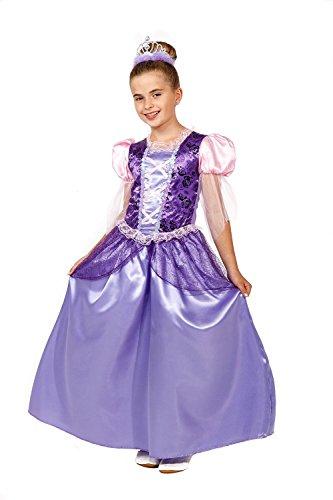 Prinzessin Kostüm Kinder lila-rosa Lilly - Prinzessinnenkleid Mädchen - Prinzessin Kostüm Mädchen violett (134/140) (Lila Prinzessin Kostüm Kind)