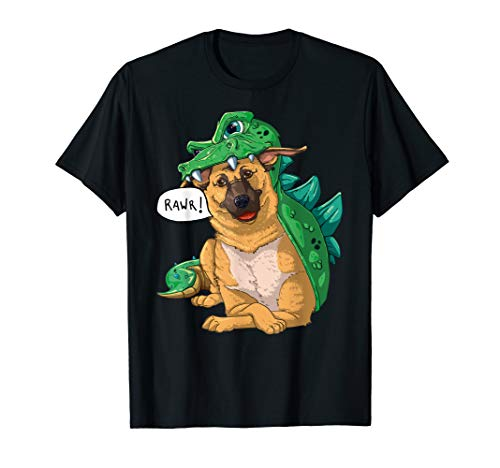 Frauen Kostüm Drache - Deutscher Schäferhund Dinosaurier Drachen Kostüm Halloween T-Shirt