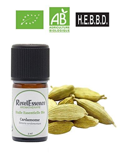 Huile Essentielle de Cardamome Bio Revelessence (5 ml)