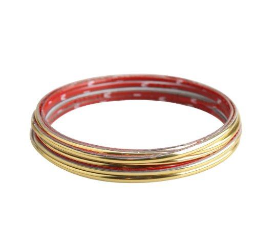 Unterbrechen 5m KFZ-Innen Externe Zierteilen Strip Zierleiste Line Gold Flexibel