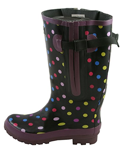 3e9662a23f21 Extra Wide Calf Polka Dot Wellies - up to 50cm calf