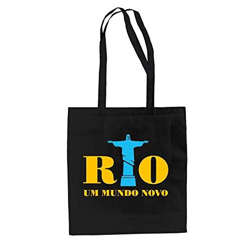 Borsa Di Juta - Rio - Around Mundo Novo - Un Nuovo Mondo - Dal Reparto Camicia Nero E Giallo