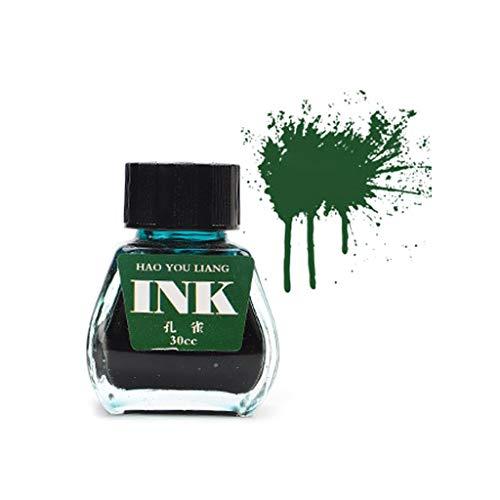 ZOOMY 30 ml Bott Glass Smooth Writing Füllfederhalter Tinte Refill Schüler Schreibwaren Bürobedarf 16 Farben - 10# Pfau (Pfau-farben-teppich)