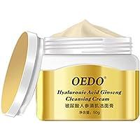 F-blue Ácido hialurónico Ginseng Limpiador Facial Cleansing Scrub Tratamiento del acné poros Remover la