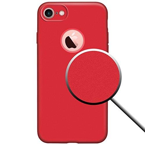 custodia iphone 7 plus rosso gel