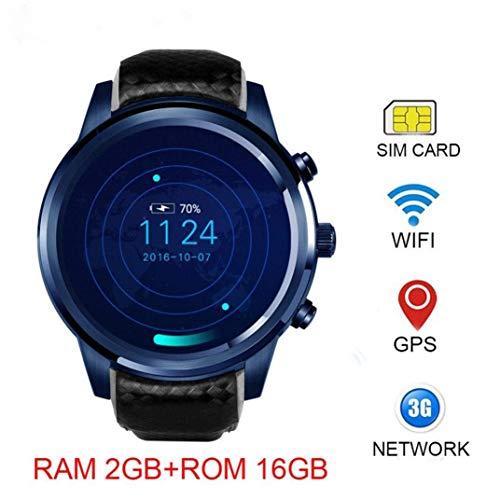 ZMEETY Smart Watch LEM5 Pro-Mit SIM-Karten Android 5.1 (1,39 Zoll Quad Core 2 GB / 16 GB.GPS, WiFi.Camera. MDMP3.G Sensor, SMS)