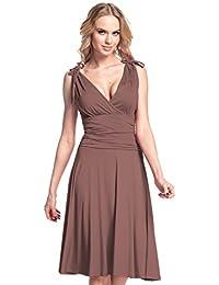 Glamour Empire. Mujer. Vestido de tirantes Jersey anudado correas. 142