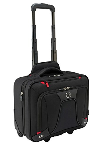 Business Cases Aktentasche Aktenkoffer (Wenger 600664 Transfer erweiterbar auf Rädern Laptop Aktentasche, gepolsterte Laptopfach mit iPad/Tablet / eReader Tasche in schwarz {18 Liter})