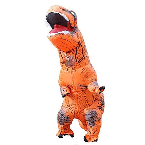 Shi Ran Dinosaurier-Kostüm aufblasbares Kostüm für Erwachsene, Dinosaurier, T-Rex-Kostüme, aufblasbares Kostüm, Cosplay-Kostüm, für Männer und Frauen, Dino-Cartoon-Design