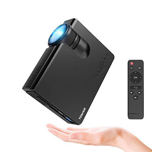 Beamer, Tenker Q5 Mini Beamer 2200 Lumen Full HD 1080P Video LCD Mini HD Projektor, Unterstützung HDMI VGA Decke / Stativ Installation für Video TV PC Laptop Spiele Smartphone mit erstklassigem Ton