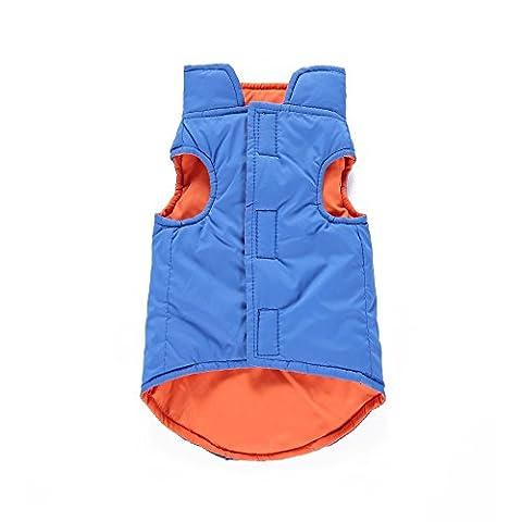 Uni Meilleur Chien réversible réfléchissant Gilet de sport d'hiver Chien Vêtements Veste matelassée Gilet Couverture Veste avec doublure réfléchissant